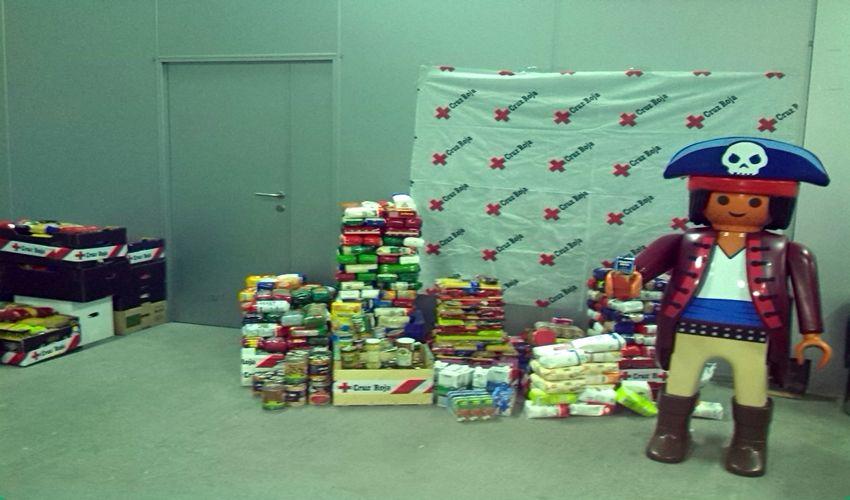 Los Playmobil de Cariñena consiguen recaudar más 4.500 kilos de alimentos en solo un mes