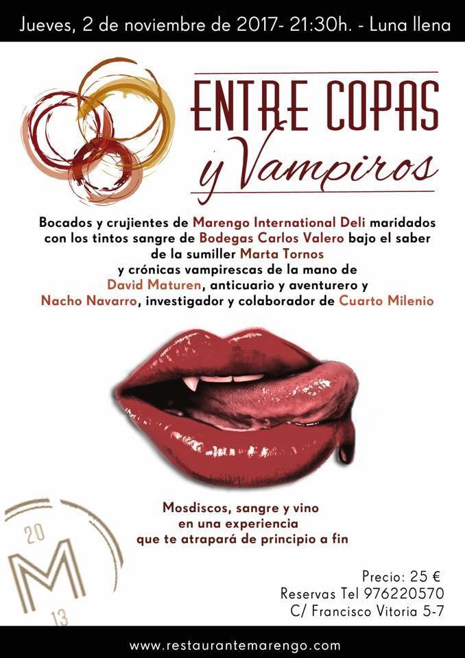 Nueva cata: Entre copas y vampiros