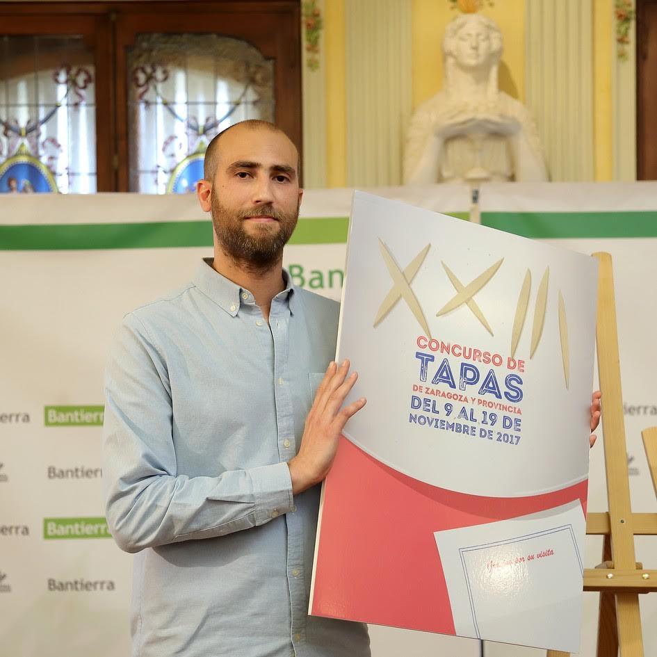 Un cartel, inspirado en las tradicionales servilletas de los bares, anunciará el XXIII Concurso de Tapas de Zaragoza y provincia