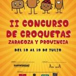 Cartel II Concurso de Croquetas de Zaragoza
