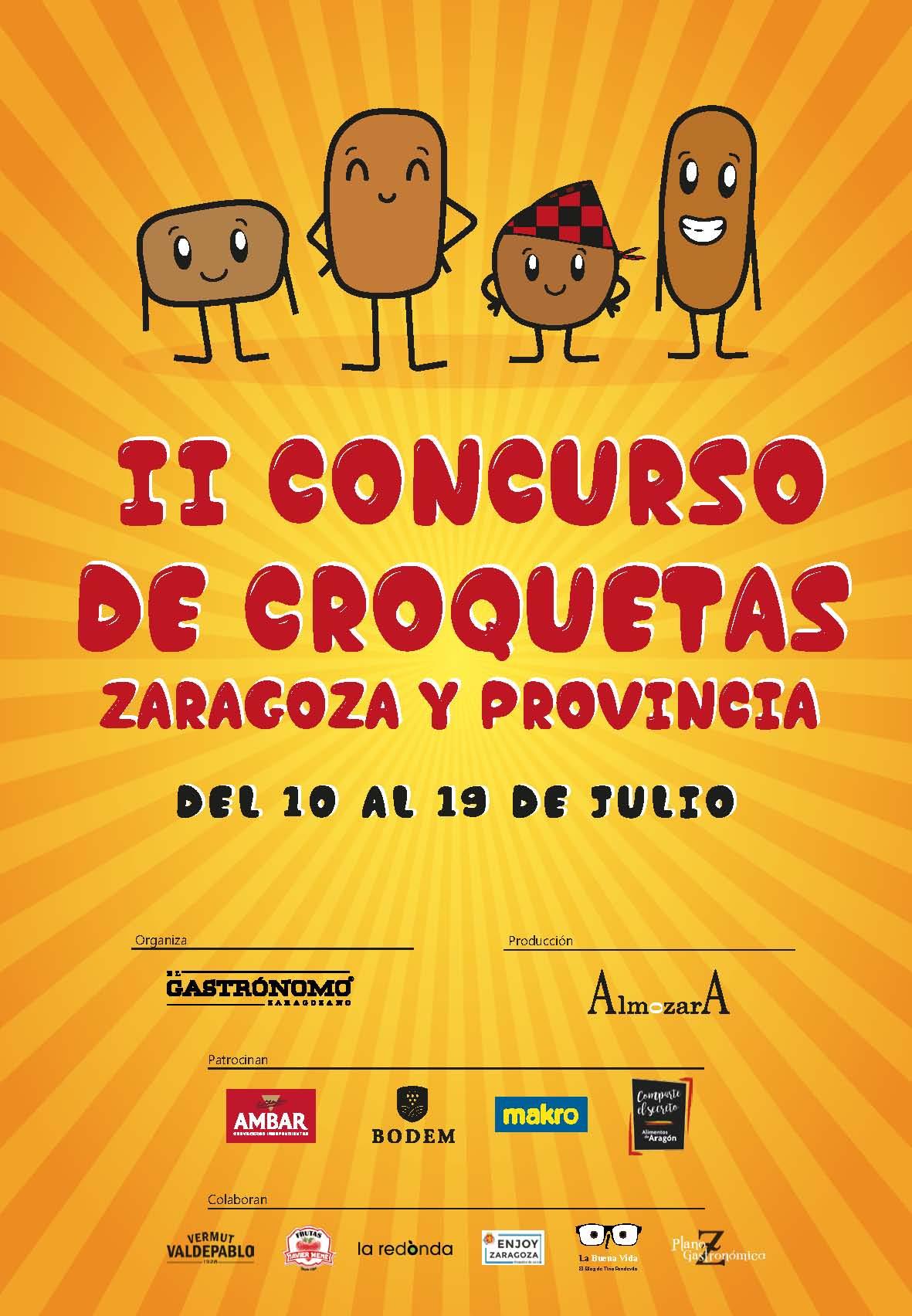 Llega el II Concurso de Croquetas de Zaragoza y provincia, la mejor forma de celebrar el reencuentro con la hostelería