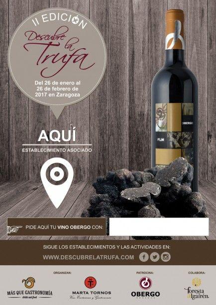 Cartel de la segunda edición Descubre a trufa en Zaragoza
