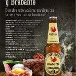 Cartel de la primera ruta del Mes del tartar y cervezas Brabante en Zaragoza