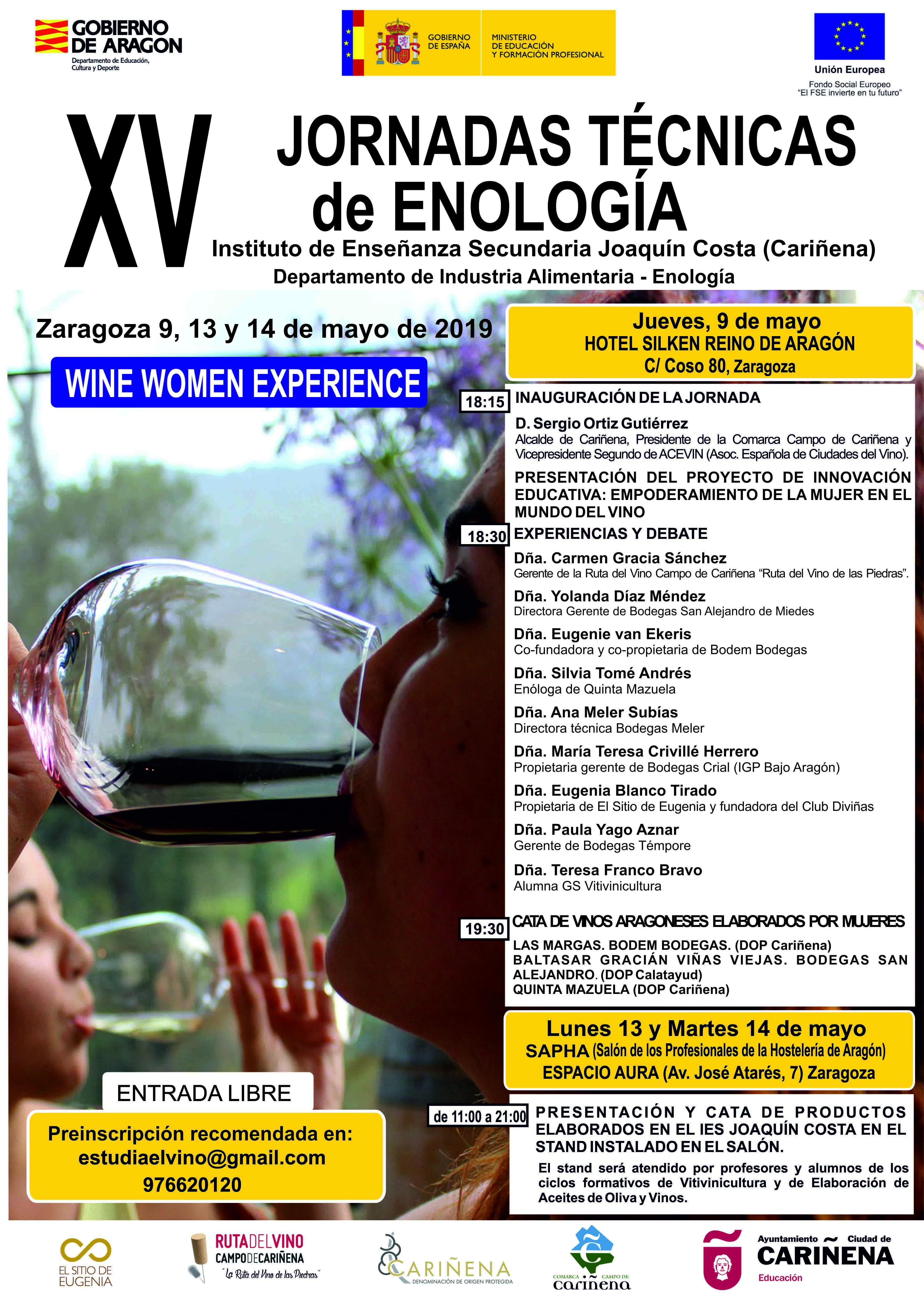 Cartel de excepción para las XV Jornadas Técnicas de Enología dedicadas al empoderamiento de la mujer en el mundo del vino