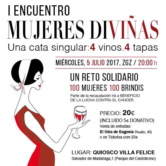Un centenar de mujeres se reúnen en Zaragoza para brindar por la vida en una singular cata