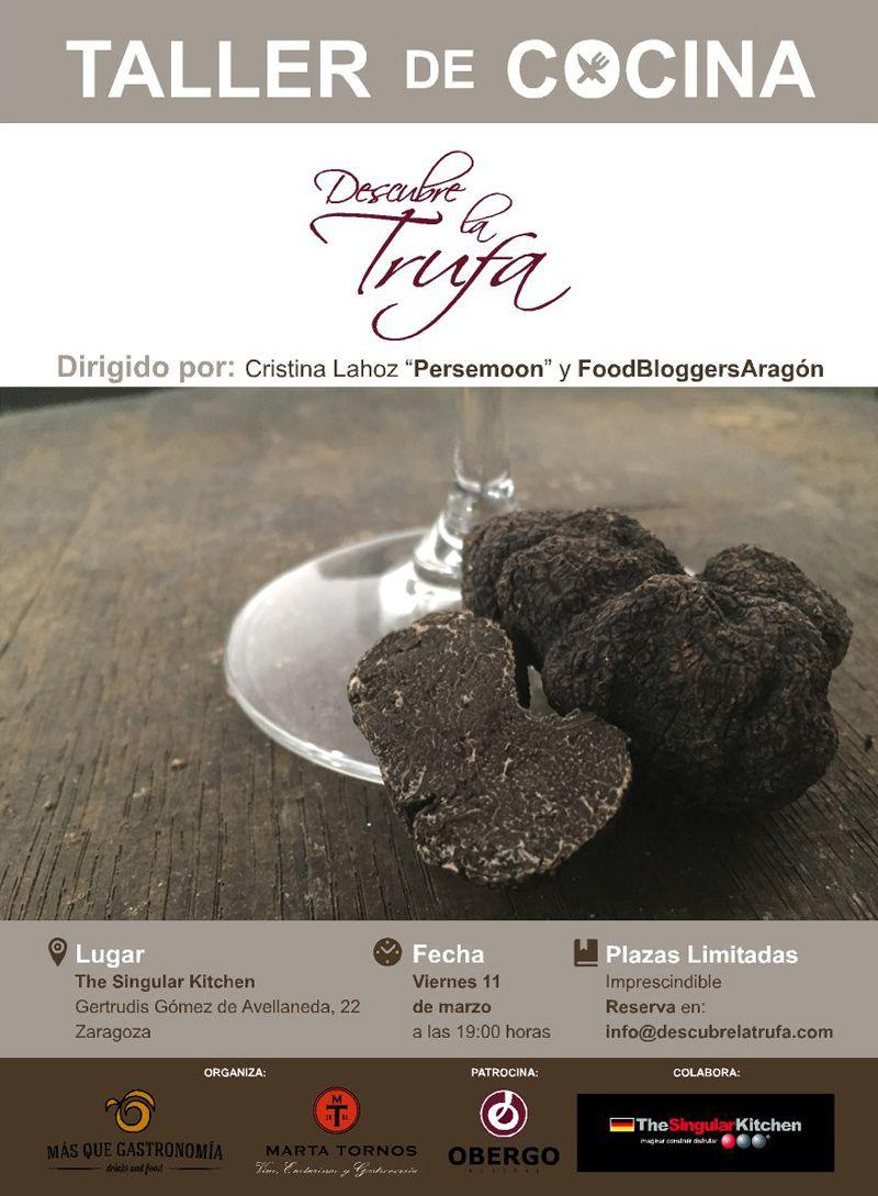 Descubre la Trufa y Food Bloggers Aragón se unen para hacer un showcooking de Tuber melanosporum