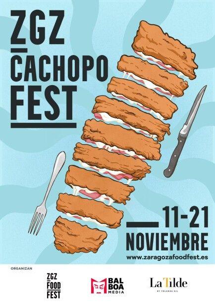 Cartel Zaragoza Cachopo Fest
