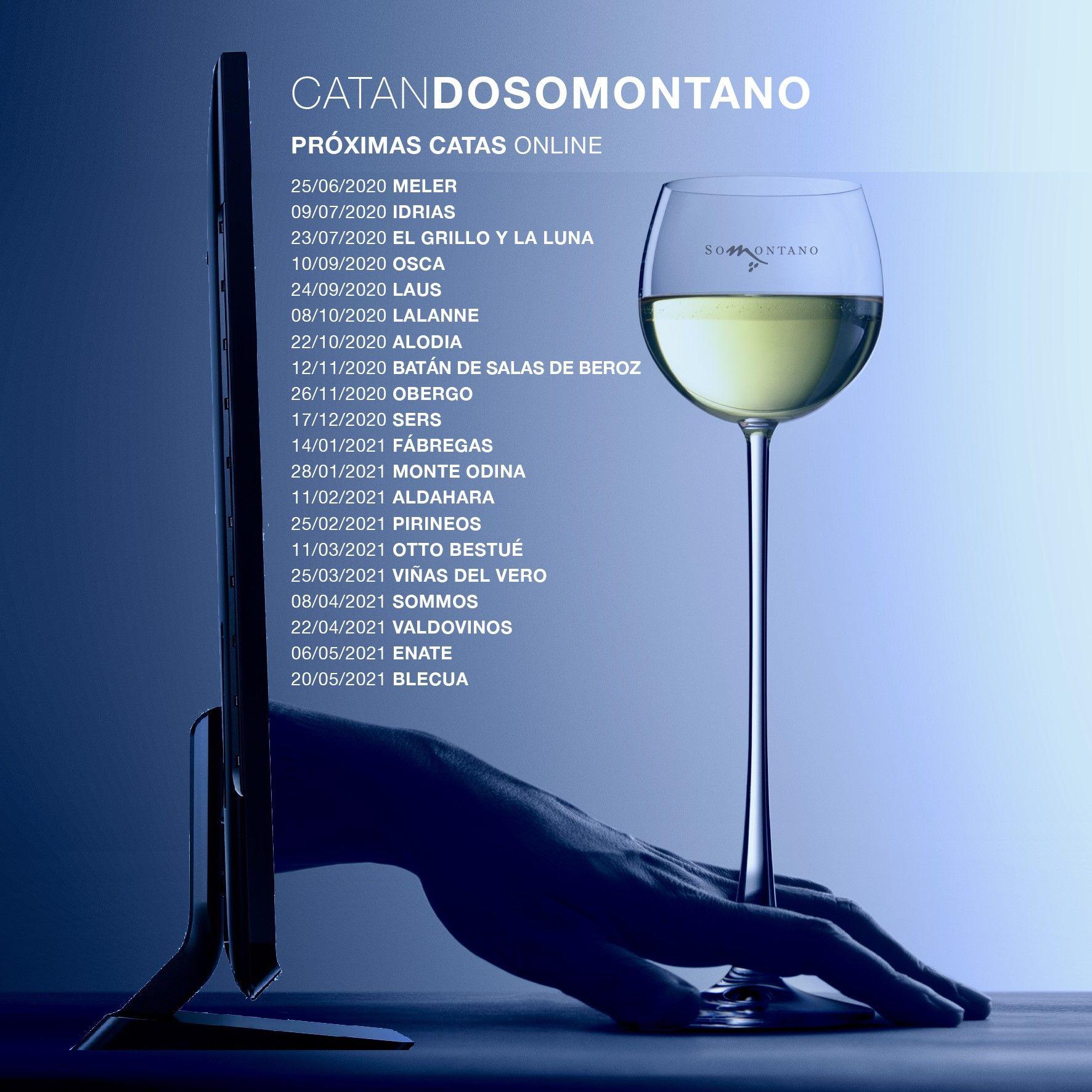 «CatanDO SOMONTANO», el ciclo de catas online que te descubre los vinos de una veintena de bodegas de la denominación aragonesa