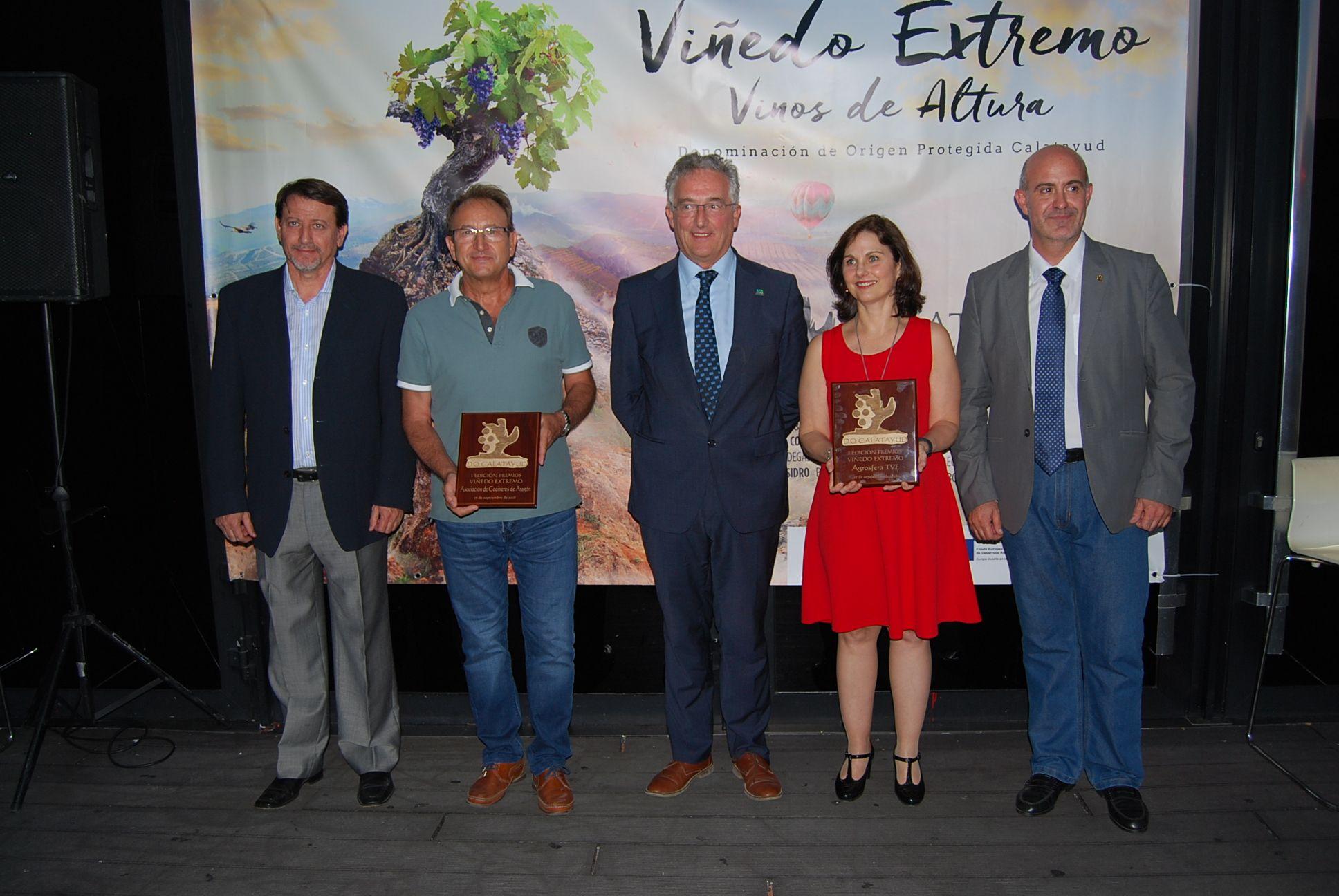 """Los vinos de Calatayud, la Asociación de Cocineros de Aragón y el programa de TVE """"Agrosfera"""", principales protagonistas de la primera edición de los premios Viñedo Extremo"""