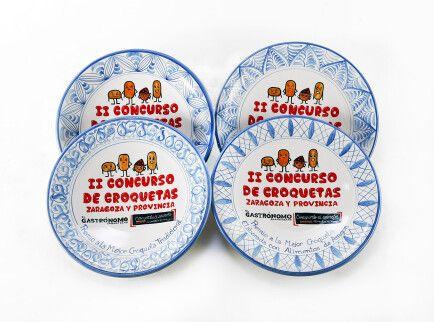 Platos premio II Concurso de Croquetas Zaragoza y Provincia