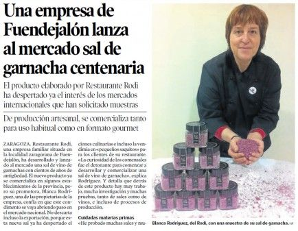 La sal Rodi en Heraldo de Aragón
