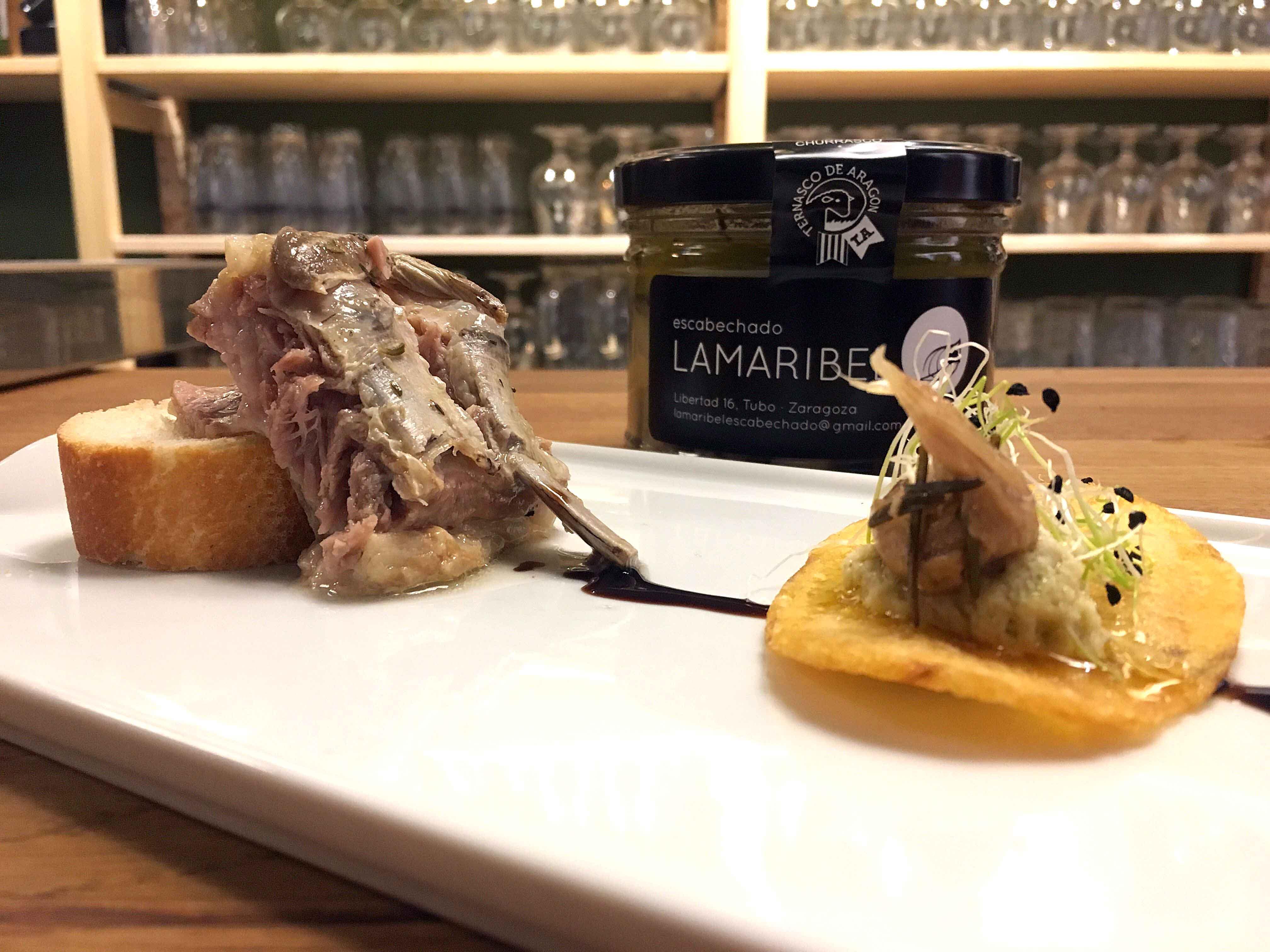 Lamaribel y Grupo Pastores presentan en Zaragoza el primer churrasco escabechado de ternasco de Aragón